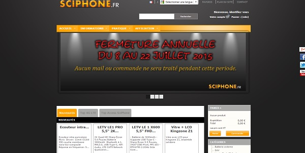 Sciphone: boutique en ligne française de smartphones chinois